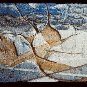 DEBAJO DE ROCAS - 1990 - PAPEL HECHO A MANO SOBRE MOLDE - 0,30 m x 0,42 m