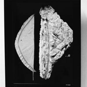 VELA Y OPUESTO - 1995 - PAPEL HECHO A MANO - 0,50 m x 0,60m x 0,04 m